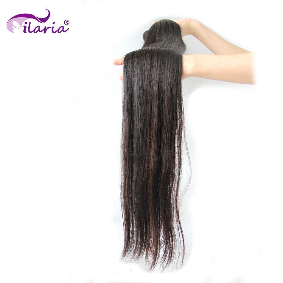 Ilaria 30 32 34 36 38 Zoll 40 Zoll Bundles 100% Menschliches Brasilianische Haarwebart Bundles Lange Reines Haar Schuss 1/3/4 PCS Natürliche Farbe