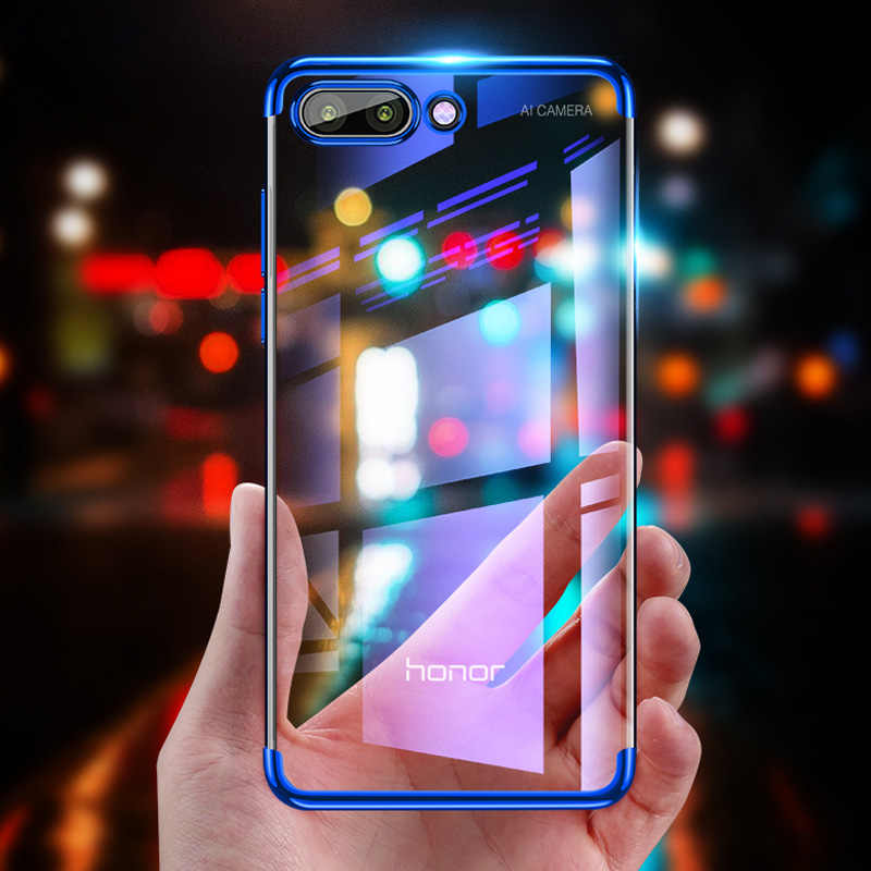 Plating Cover For Honor 10 Light 9 Lite 8 Pro 7A 7C 6C Note 10 Play Soft TPU  Case For Honor 8X 7X 8A View 20 10 Lite