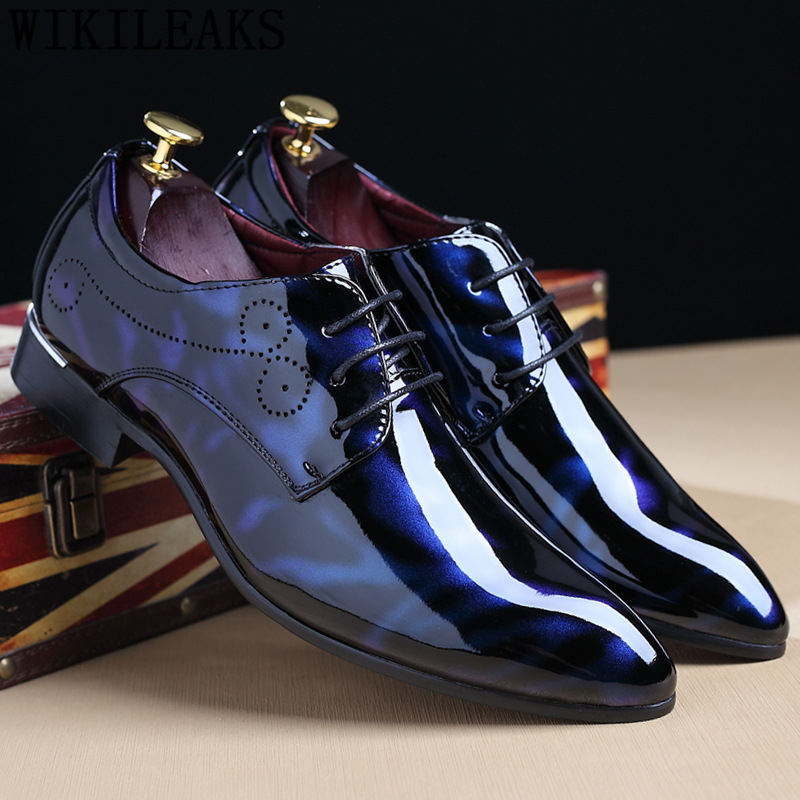 Fashion Men Dress Shoes Leather Italian Suit Shoes Men Corporate Shoes Designer Scarpe Uomo Eleganti Chaussure Homme Mariage