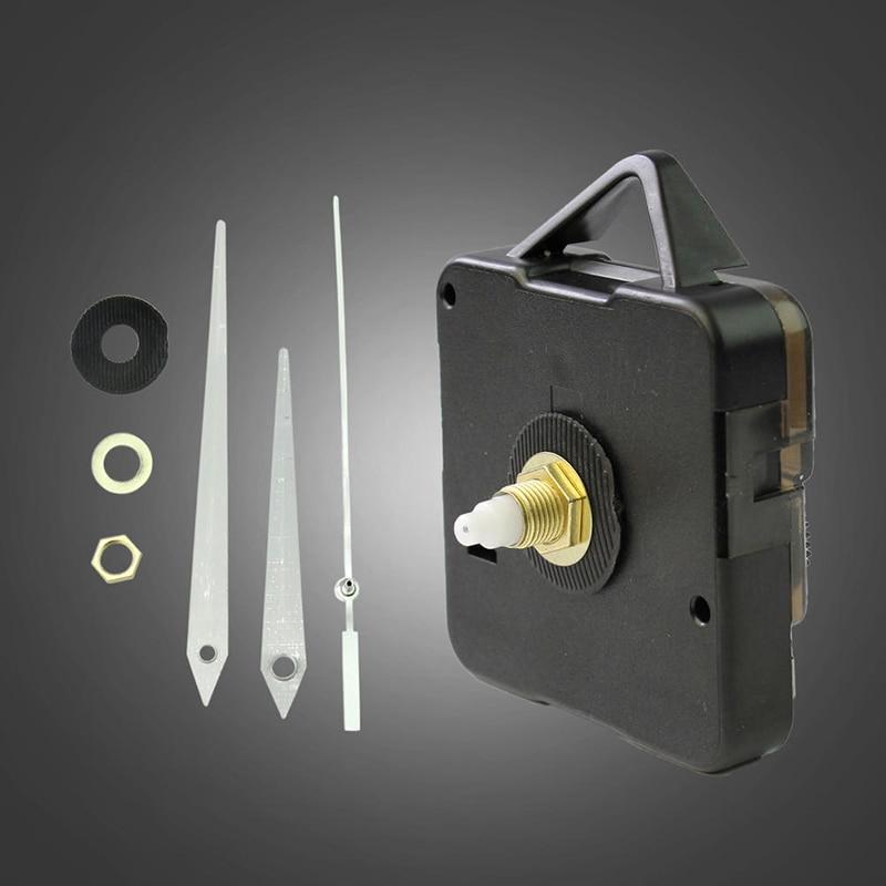1 комплект тихий большой Часы настенные кварцевые механизм движения черные и белые руки инструмент для ремонта Запчасти комплект набор «сделай сам» с одной главной балкой с крючком