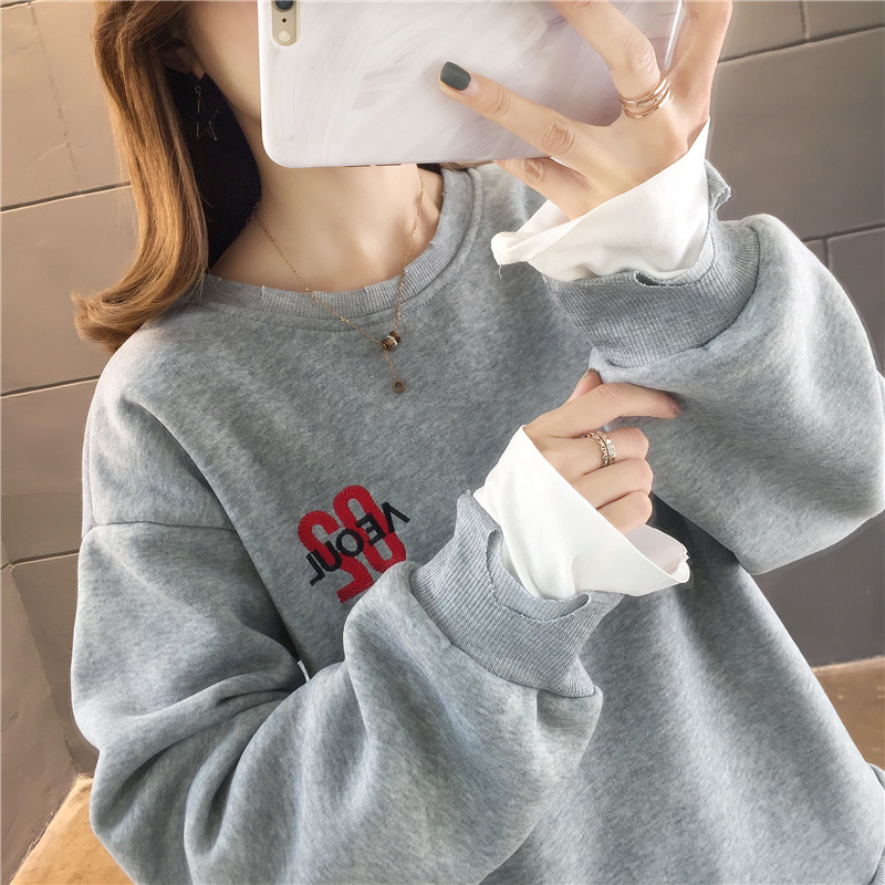 Knitted Sweater Women Lantern Gray  Sleeve Loose Gray Pullover Female Soft Warm
