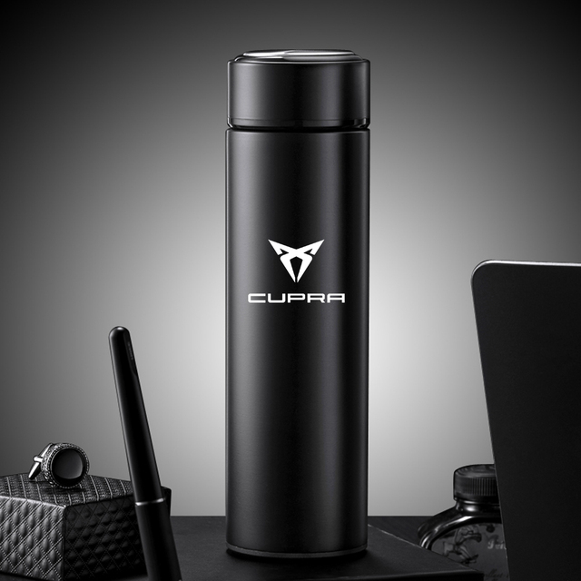 500ml Portable Smart Thermos Mug With LED Temperature Display Thermos Cup For Bolero Salsa Tango Cupra only Cupra R Accessories