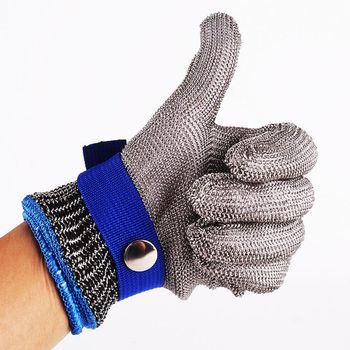 Anti-cut Gloves Stainless Steel Safety Cut Proof Stab Resistant Wire Metal Mesh Butcher Protect Meat Cut-Resistant Gloves 1 pair anti cut gloves cut proof stab resistant stainless steel level 5 protect industrial work safety gloves