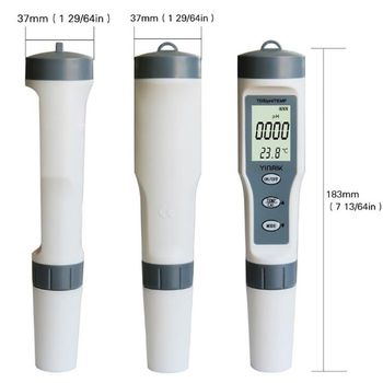 ph meter tester 3 in 1 lcd display digital water quality tester portable tds purity meter 0 99 ph meters digital meter EZ9901 Digital TDS Meter 3 in 1 TDS/PH&TEMP Tester  Pen Handheld Water Quality