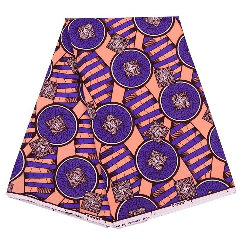 2020 New Dutch Wax Fabric Fashion African Ankara Real Wax Pink And Purple Printed Fabric