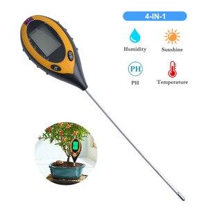 Digital 4 em 1 planta ph umidade luz do solo medidor termômetro luz solar