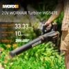 WORX 20V WORXAIR Turbine WG547E Cordless Blower Vacuum Clean Air Blower Electric air blower dust Blowing Dust Collector Handheld