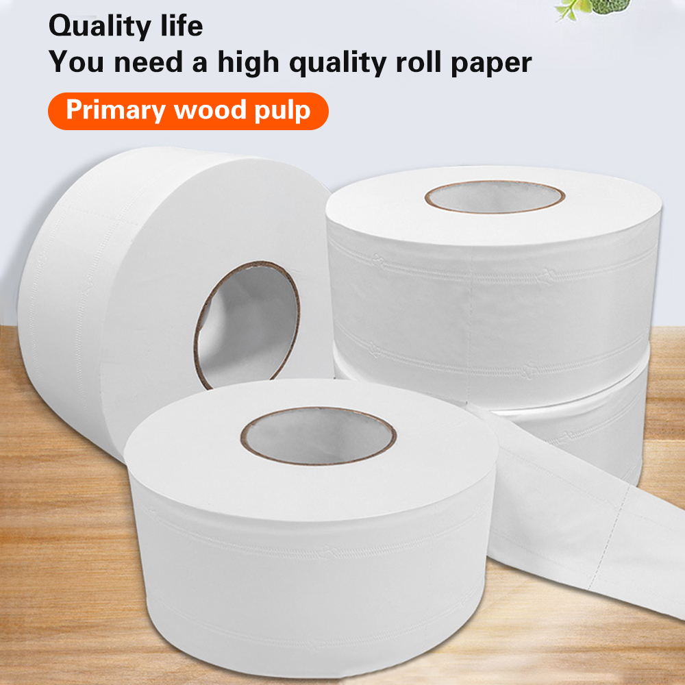 Fast Shipping Jumbo Roll Toilet Paper For Home 4-layer Soft Native Wood Pulp Rolling Paper 1 Roll Paper Primary Wood Pulp