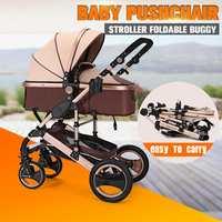 8 in 1 Four Wheel Bassinet Foldable Newborn Four Seasons Stroller Carriage Travel Car Pram Baby Stroller Pushchair GIFT