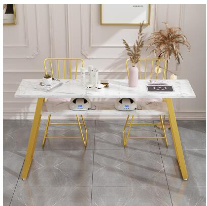 Купить с кэшбэком Nail Table Economy Double Single Simple Modern Nail Table And Chair Set Double Nail Store