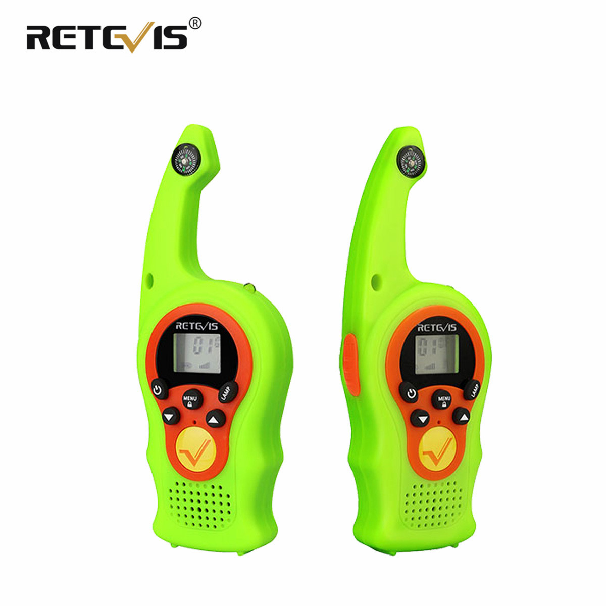 Retevis RT675/RT75 Two-way Radio 2pcs FRS 0.5W PMR446 Kids WalkieTalkie Compass VOX Flashlight Christmas Gift Portable Walkie