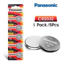 PANASONIC 5 шт. оригинальная Фирменная Новинка батарея cr2032 3 в кнопочные батарейки для монет для дистанционных часов, электронных компьютеров cr 2032