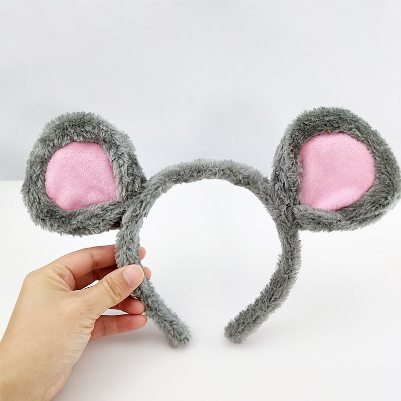 Rat Mouse Animal Ear Headband Role Playing Hair Ornament Unisex Cosplay Headwear Hair Accessories Purim Party