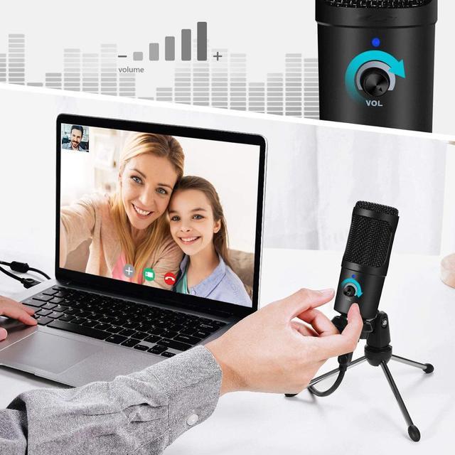 Microfone Condensador USB Profissional Para Computador Ideal para estúdio de Gravação e Lives 5