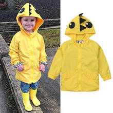2018 Spring Autumn Infant Toddler Baby Girl Boy Cartoon Dinosaur Long Sleeev Jackets Hooded Tops Striped Zipper Coat Outerwear(China)