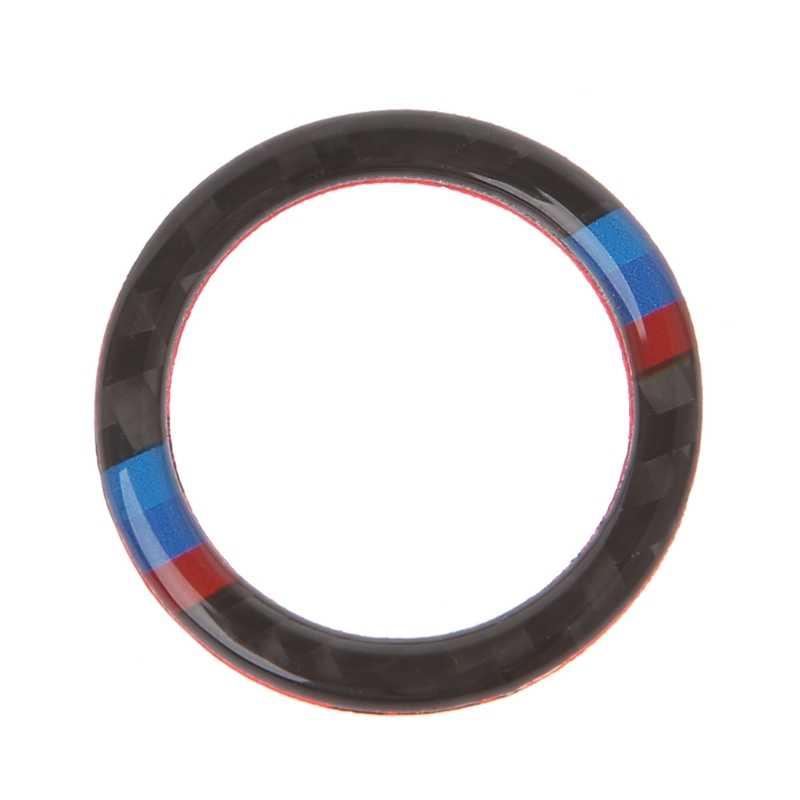 2020 ไฟเบอร์คาร์บอนไฟเบอร์ Key Start ปุ่มแหวนตกแต่งสำหรับ BMW 3 Series E90/E92/E93