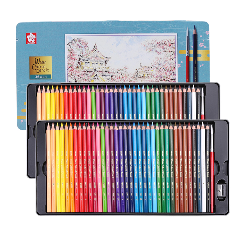 24/36/48/60/72 Professional Lapis Colored Pencils Watercolor Set Prismacolor Olilwater Pencils Drawing Crayons Christmas Pencil