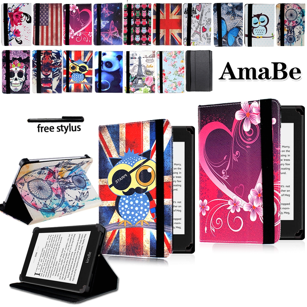 Anti-Dust Leather Tablet Stand Cover Case For Amazon Kindle 4/5//7/8/10 Tablets For Kindle Paperwhite 1/2/3/4 Protective Shell