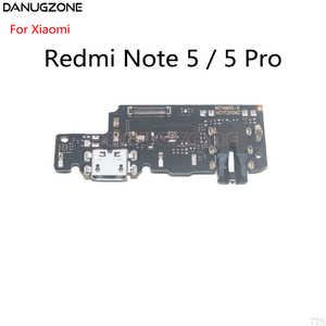 Image 4 - 10PCS For Xiaomi Redmi NOTE 5 PRO NOTE5 USB Dock Port Charging Plug Connector Charge Board Flex Cable With Audio Earphone Jack