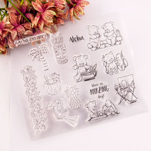Lovely Bear Clear Stamps Seal for DIY Scrapbooking Card Rubber Stamps Making Album Photo Crafts Handmade Decoration New Stamps azsg lovely cat clear stamps seal for diy scrapbooking card making photo album decoration supplies