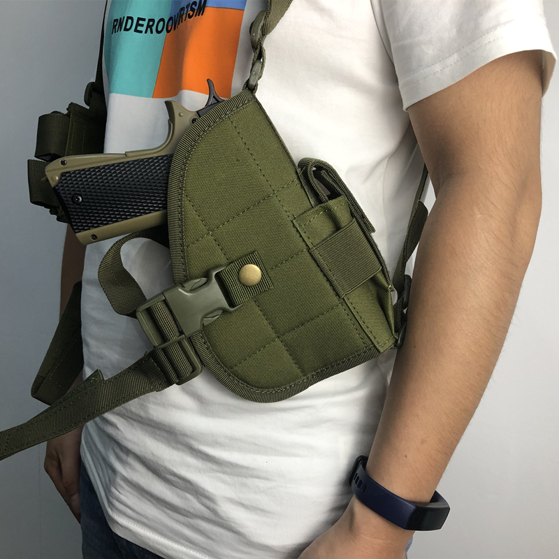 Universal Nylon Tactical Military Shoulder Colt 1911 USP P226 Holster Pistol Gun Airsoft Holsters Double Magazine Pouch Holder image