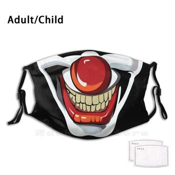 Face Mask Clown Face Adult Kids Anti Dust Filter Diy Mask Clown Red Nose Stage Circus Keep Your Distance Please Smile Face Flu