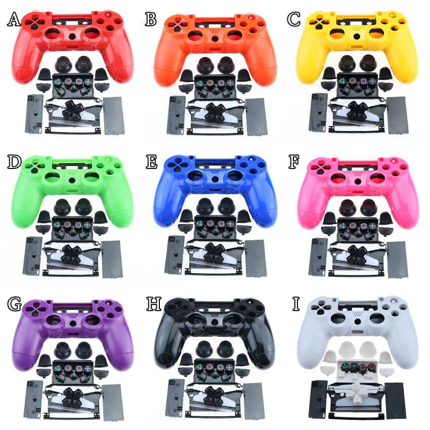 Controller handle housing JDM-001 JDM-011 colorful Shell Accessories with Button Kits for <font><b>PS4</b></font> Playstation 4 Gamepad <font><b>Case</b></font> Cover image