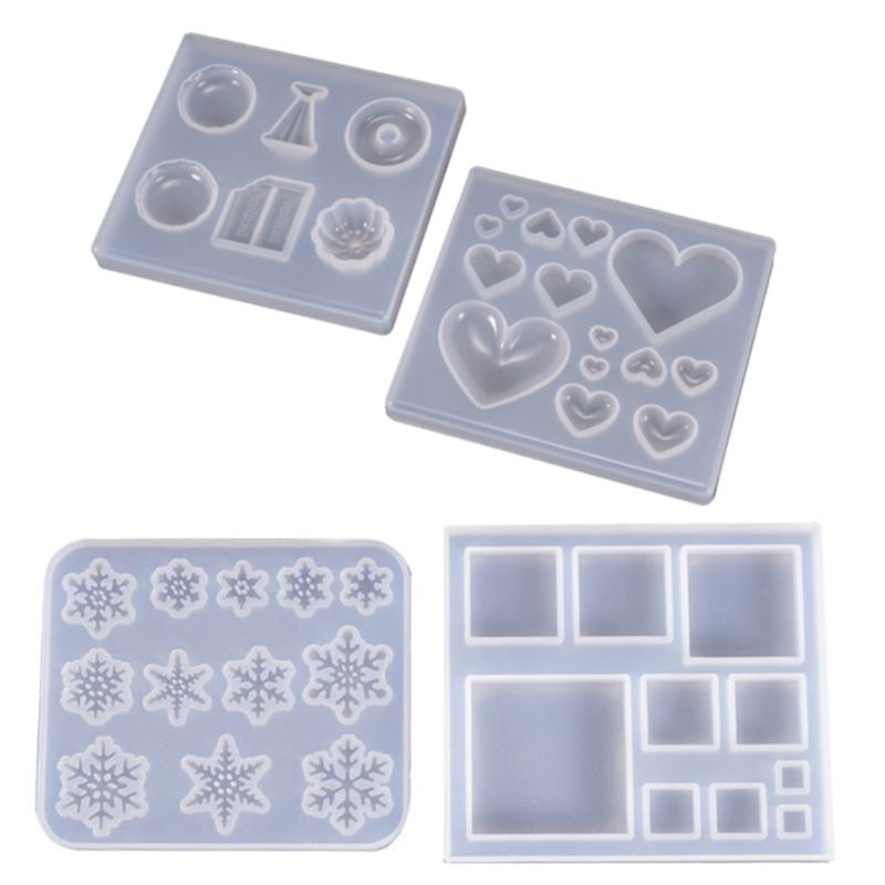 Jewelry DIY Crystal Epoxy Mold Heart Candy Heart-shaped Patch Gemstone Mould