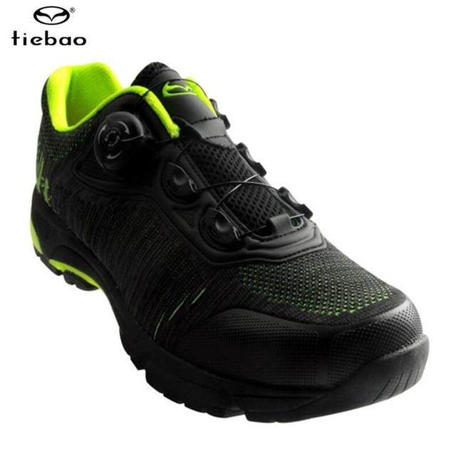 Tiebao ciclismo sapatos auto-lock mtb respirável malha superior sapatos de bicicleta ao ar livre sapatos de lazer dos homens tênis zapatillas mtb 4
