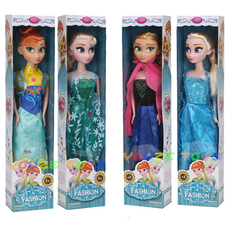 30cm Original Box  Anna And Elsa Boneca Elsa Doll Fever 2 Princess Dolls Figures Girls Toys Children Christmas Gift Set