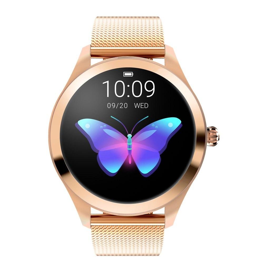 KW10 Модные Смарт-часы для женщин Прекрасный браслет монитор сердечного ритма мониторинг сна Smartwatch подключение IOS Android PK S3 band