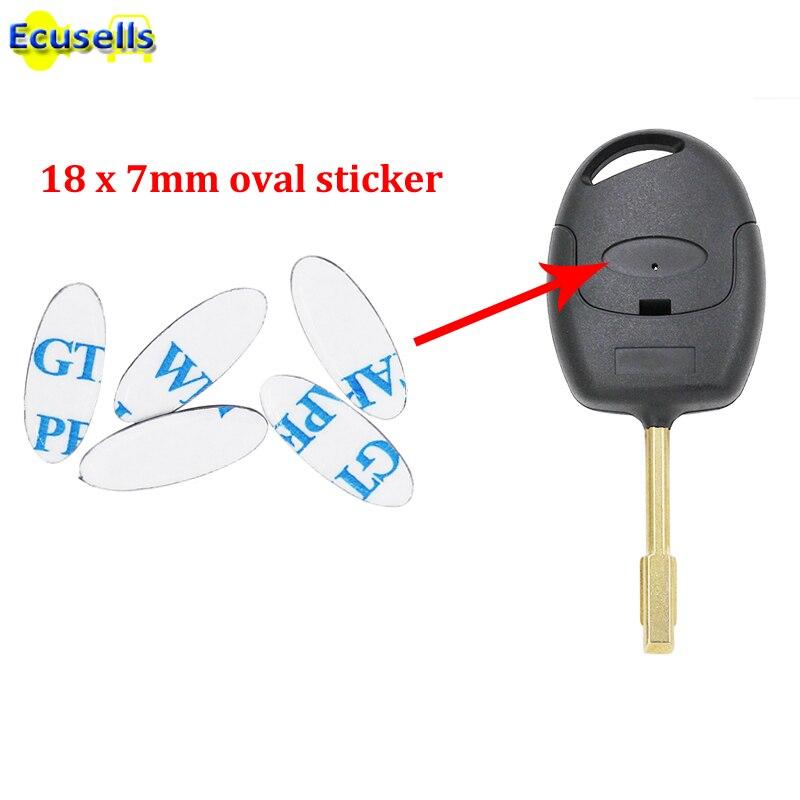 5 Pçs/lote 18X7mm Oval Chave Do Carro etiqueta do logotipo do carro emblema emblema autocolante para Ford chaves remotas