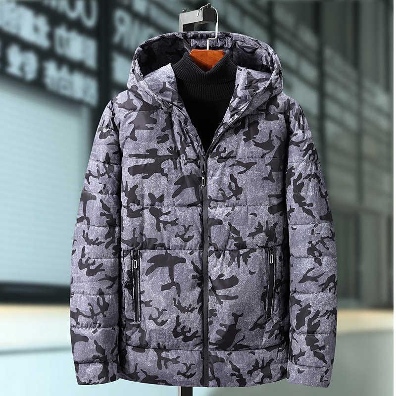 7XL 8XL 9XL Winter Jacke Männer/Frauen Dicke Warme Camouflage Parka Mantel Mit Kapuze Mantel Parkas Plus Größe Winter Windjacke 2019