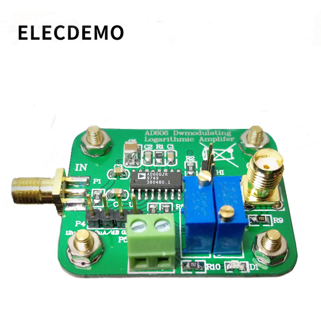 AD606 module logarithmic detector 80dB demodulation logarithmic amplifier low power adjustable amplitude output