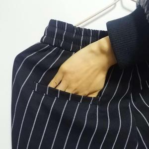 Image 5 - Mens Striped Trousers Pants Black White Summer Thin Ankle length Casual Pants Male Breathable Fashion Slim Fit Harem Pants Men