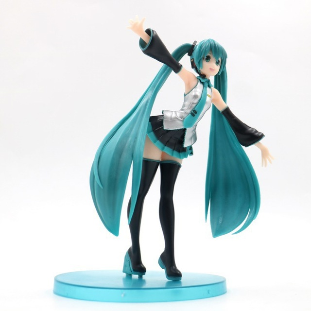 18cm Hatsune Miku sexy Action Figure PVC Collection Model toys brinquedos for christmas gift