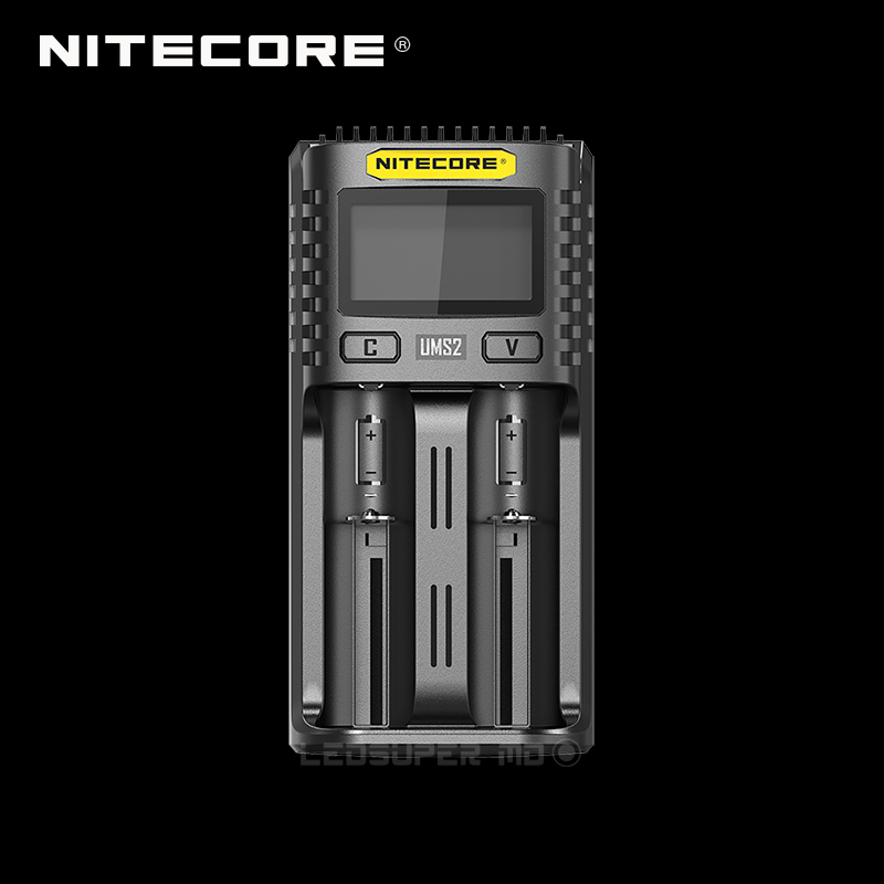 LCD Display NITECORE UMS2 Dual-slot Superb Intelligent USB Charger