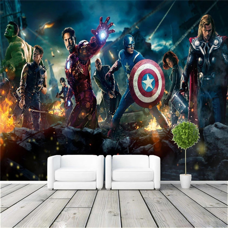 Custom 3D Wall Murals Wallpaper For Kids Room Bedroom Decoration Film Poster Cafe Bar Decorative Waterproof Canvas Wall Painting 2
