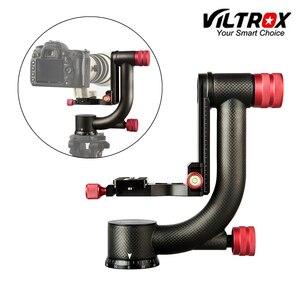 Image 1 - Viltrox VH 20 Pro Heavy Duty Carbon Fiber Gimbal Statiefkop Stabilisator Quick Release Plaat voor Telelens fotografie vogel