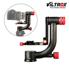Viltrox VH 20 Pro Heavy Duty z włókna węglowego Gimbal głowica statywu stabilizator płyta szybkiego uwalniania do teleobiektywu fotografia ptak