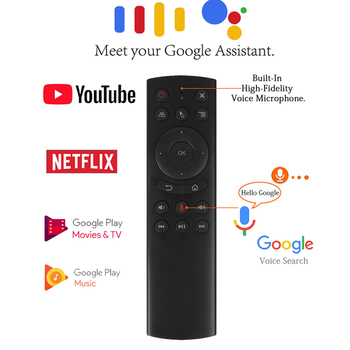 цена на G20s Voice Air Remote Mouse 2.4GHz Mini Fly Mouse with Voice Microphone Input IR Remote control For Android Shield TV Box
