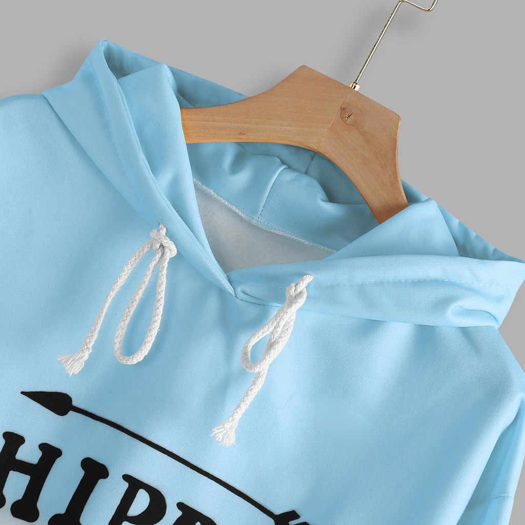 LNCDIS mujeres abrigo sudadera Casual otoño manga larga con capucha gradiente Tie-dyed impreso sudadera blusa invierno 2z