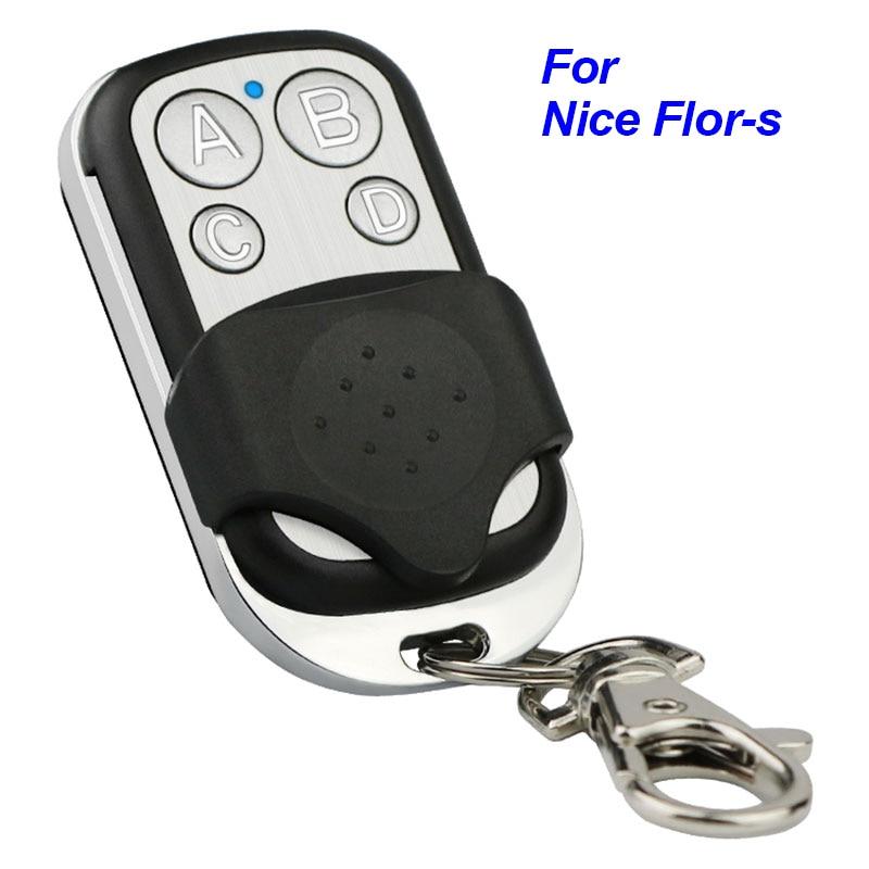 Nice Flor-s пульт дистанционного управления для гаража Flors FLO2R-S FLO4R-S FLO2RE ERA INTI 2 ворота управление команда 433 МГц передатчик кода прокатки