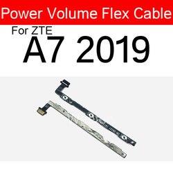 Cabo flexível de volume de energia para zte a7 2019 power on off botão lado chave flex fita peças de reparo