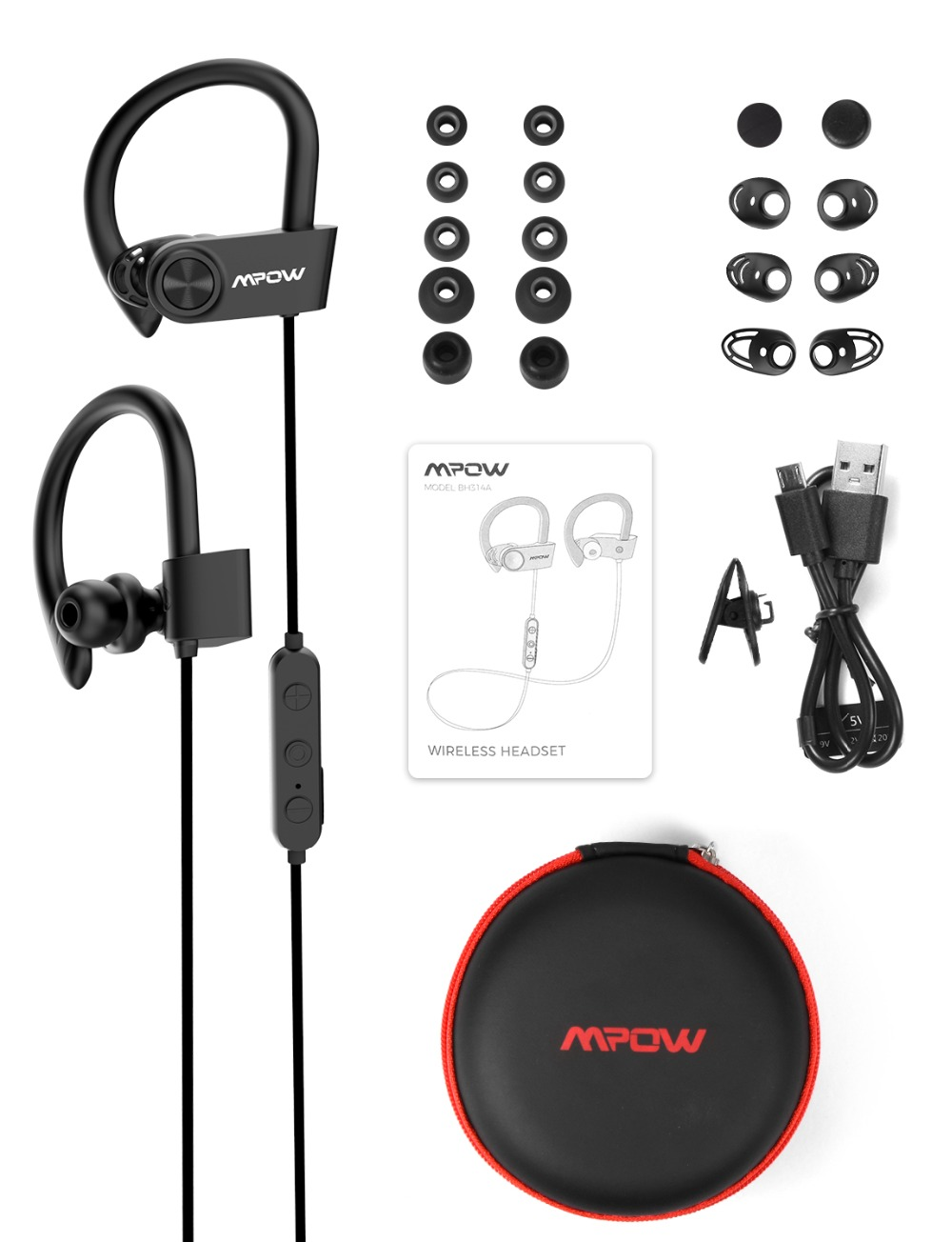 Mpow D9 Bluetooth 5.0 Earphone Aptx Wireless Sport Headphone With IPX7 Waterproof Noise Cancelling Mic 18H Playtime For Running (7)
