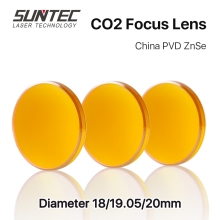 Co2 Laser Focus Lens China PVD ZnSe Dia.12 18 19.05 20 25mm FL38.1 50.8 63.5 76.2 101.6mm Cutting Engraving Machine