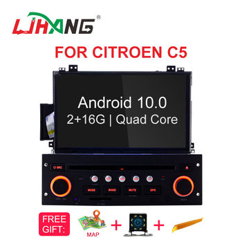 LJHANG Car DVD Player Android 10 for Citroen C5 2005-2012 GPS WIFI Multimedia 1 Din Car Radio Stereo Auto Headunit Video RDS IPS