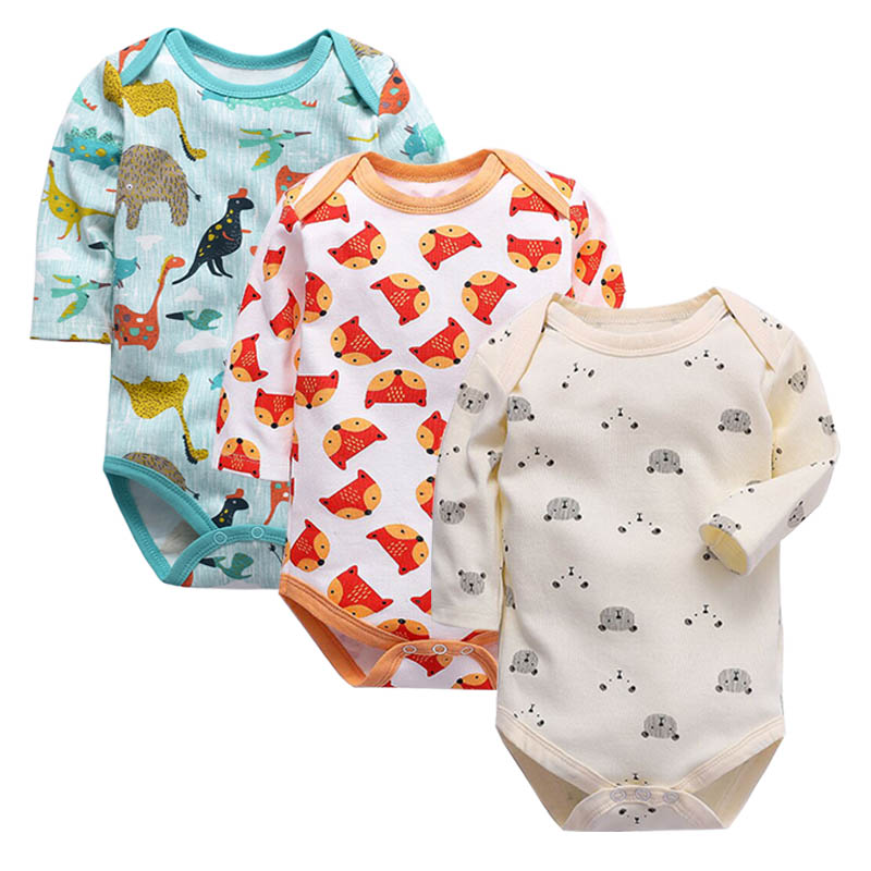 Baby Bodysuit Fashion 1pieces/lot Newborn Body Baby Lo'n'g Sleeve Overalls Infant Boy Girl Jumpsuit Kid Clothes