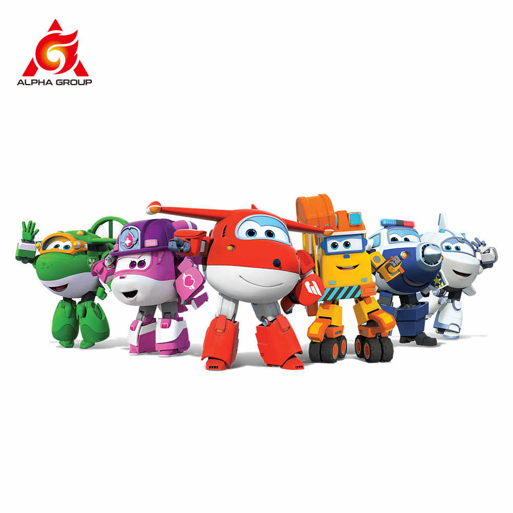 """Abs super asas deformação transformando 5 """"escala avião robô figuras de ação super asa transformação brinquedos para crianças presente"""
