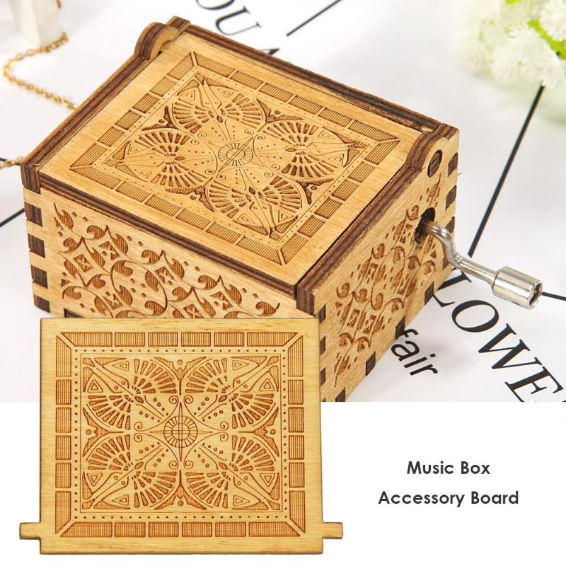Retro Wood Board Music Box Accessories for Hand Cranked Music Box Xmas Child Kid Gift Home Party Christmas Decor Wood Board
